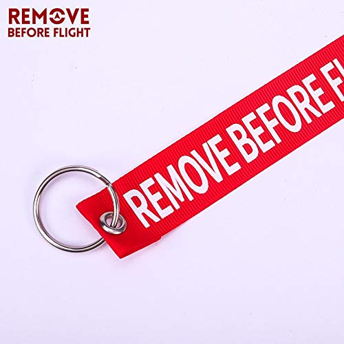 Amazon.com: Key Rings 3PCS Remove Before Flight Keychain Red ...