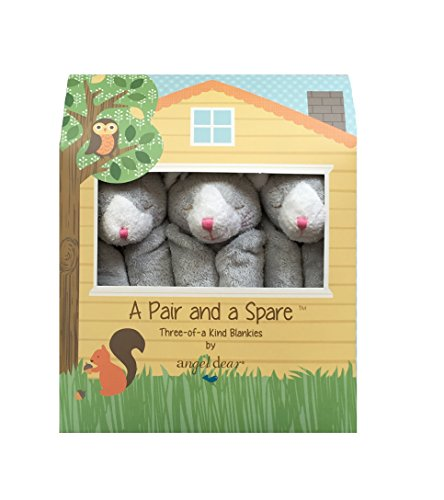 Angel Dear a Pair and a Spare 3 Pcs Blankets Gift Box, Grey Kitty