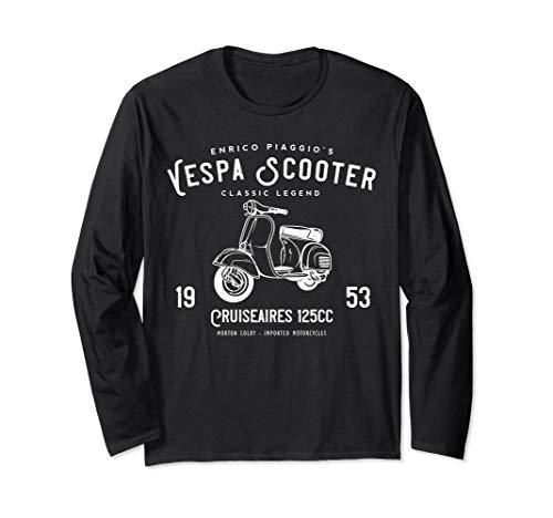 Vintage Piaggio Scooter 1953 125cc, Original Design Long Sleeve T-Shirt