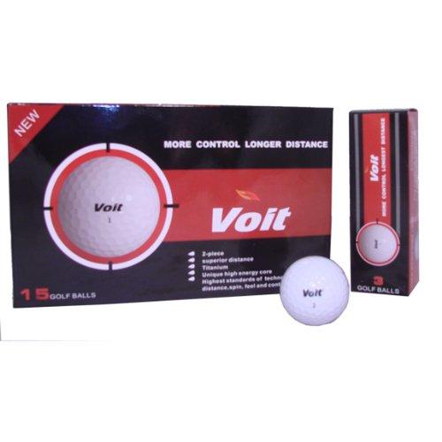 15 Voit Distance White Golf Balls by Voit Golf