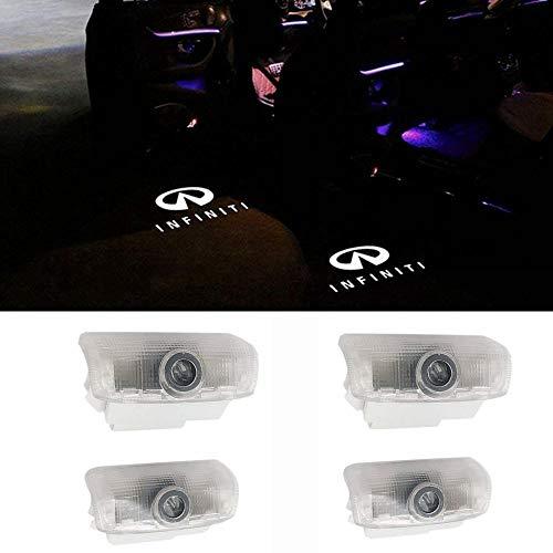 biukpci Car Door LED Light Logo Projector Ghost Shadow Welcome Lamp for Infiniti EX FX G M Series Q50 Q70 QX70 QX50(4 Pack)