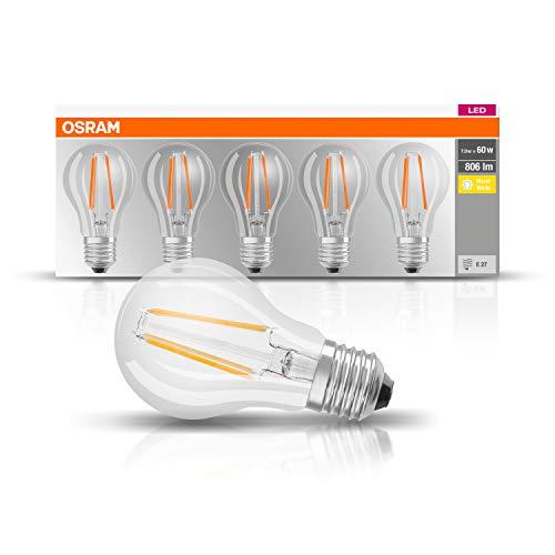OSRAM LED lamp | Lampvoet: E27 | Warm wit | 2700 K | 7 W | helder | LED BASE CLASSIC A [Energie-efficiëntieklasse A++]