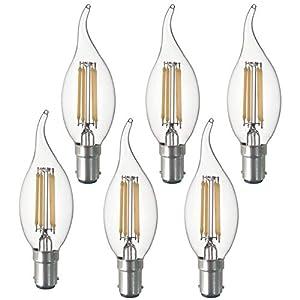 SD LUX B15 LED Candle Bulbs Vintage Filament Led Light Bulbs,CA35 No Flicker Small Edison Bayonet LED Chandelier Bulbs…