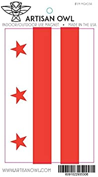 2 Magnets 4x6 All Weather Magnet Artisan Owl Washington DC District of Columbia Flag Magnet for Auto Car Bumper