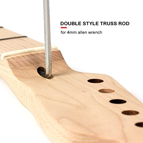 2pcs Maple Guitar Neck 22 Fret Full Fretjob W/nut 42mm by Kmise (Image #5)