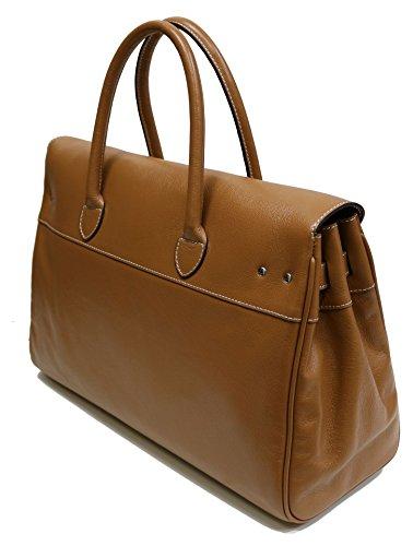 "Grand sac cabas ""Pyla Buni"" MAC DOUGLAS châtain"
