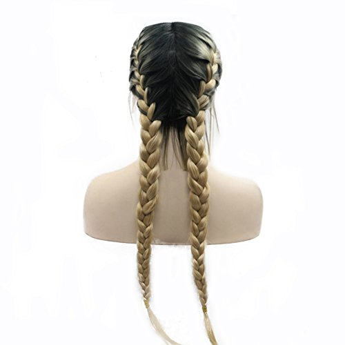 Blonde Braided Wigs with Baby Hair Heat