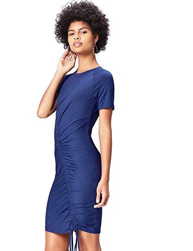 FIND Donna Vestito Jersey Blu Blau in xHxrwz1q