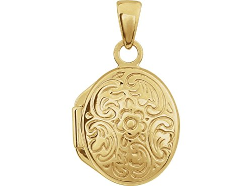 Childrens 14k Yellow Gold Vintage Style Oval Locket by The Men's Jewelry Store (for KIDS)