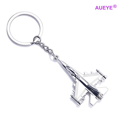 Jet Aircraft Sales - Aircraft Keychain Battleplane Key Holder Airplane Model Toy Souvenir Key Rings For Children Metal Car Key Racks Similar to F16 Falcon