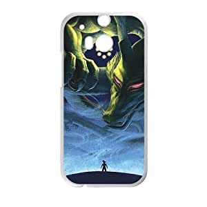 Green Gragon Monster White HTC M8 case