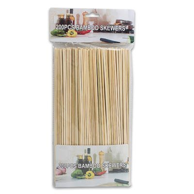 200-piece Set of All-natural Bamboo Wood Bbq Skewers, 11.75 Inches