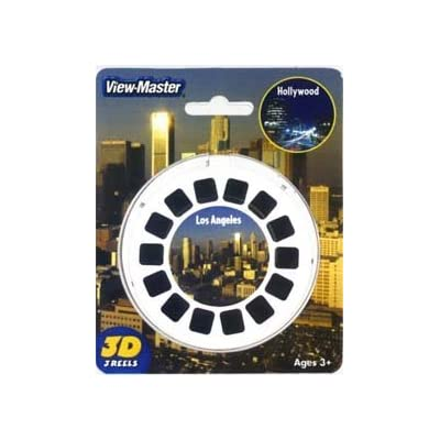 View-Master 3D 3-Reel Card Los Angeles & Hollywood California: Toys & Games