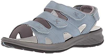 Drew Shoe Bayou Women's Therapeutic Diabetic Extra Depth Sandal Shoe Leather None