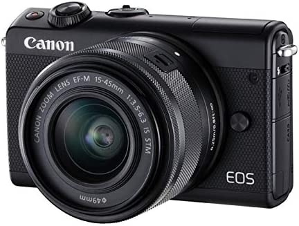 Canon Eos M100 With Ef M 15 45mm Lens Black Kamera
