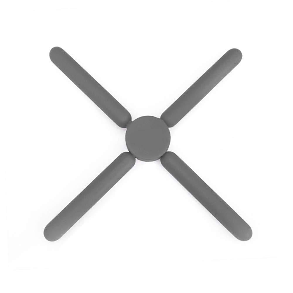 Tappetino pieghevole in silicone a forma di croce per sottopentola da cucina Grey