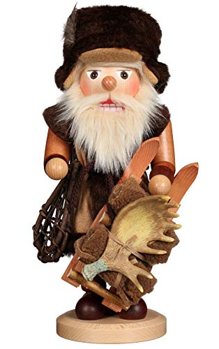 (Alexander Taron Christian Ulbricht Nutcracker Trapper Natural 16 x 8 Wood Christmas Figurine )