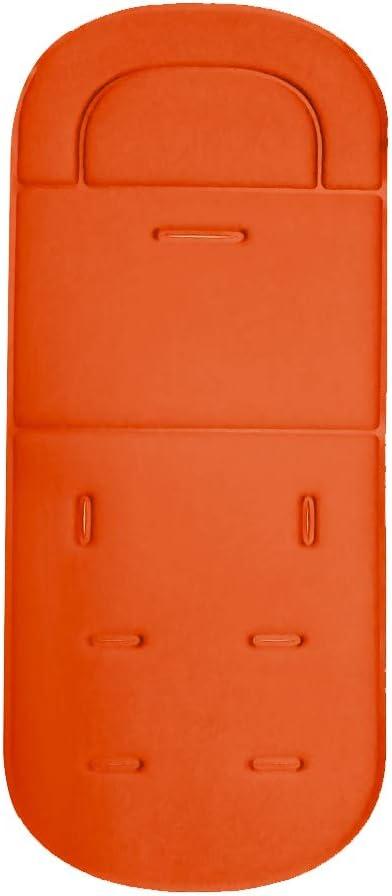 Doublure de coussin poussette b/éb/é Orange Coussin de si/ège universel confortable pour b/éb/é avec coussin protecteur doreillers pour b/éb/é pour poussettes hautes et coussins de si/ège de voiture