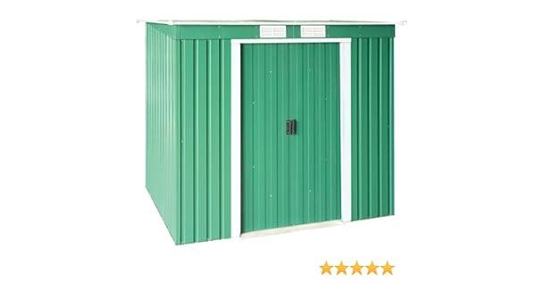 Duramax - Caseta metálica Color Verde Pentroof: Amazon.es: Jardín