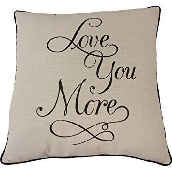 Mainstay Love You More Pillow (Black) by Mainstay