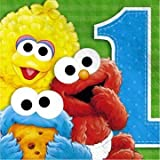 : Sesame Street 1st Birthday Lunch Napkins, 16ct