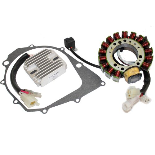 Caltric STATOR & REGULATOR RECTIFIER Fits YAMAHA WARRIOR 350 YFM350 1996-2001 with GASKET by Caltric