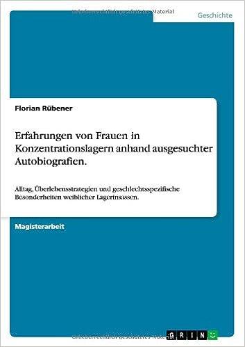 Book Erfahrungen Von Frauen in Konzentrationslagern Anhand Ausgesuchter Autobiografien.