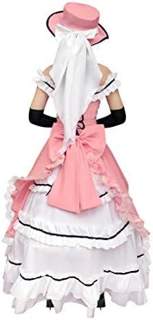 DAZCOS US Size Lace up Kuroshitsuji Ciel Pink Lolita Cosplay
