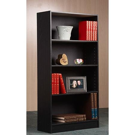 Orion Bookcase, Multiple Finishes by BLOSSOMZ (Black, 4-Shelf) by Mylex