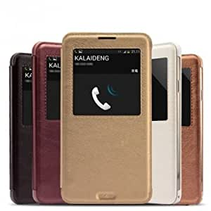 KALAIDENG KA Series Leather Case For Samsung Galaxy Note3 N9000 --- Color:Gold -Big Paw Trading