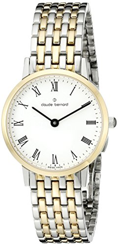 Claude Bernard Women's 20201 357JM BR Gents Slim Line Analog Display Swiss Quartz Gold Watch