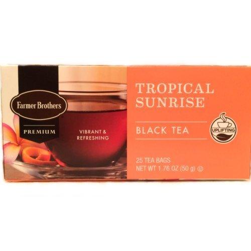 (Farmer Brothers Tropical Sunrise Black Tea, 25 bags)