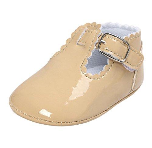 Neugeborene Baby Leder Kleinkind Schuhe Covermason Rutschfest Weiche Sohle Krippe Schuhe Khaki