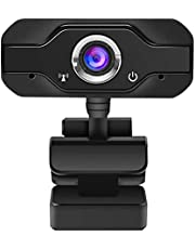 1080P Full HD Webcam with Microphone, 110° Wide-Angle View, Plug and Play, USB Webcam with Privacy Cover for PC & Laptop, Suitable for Streaming/Gaming/Video Conferencing & Zoom/YouTube/Google Meet.