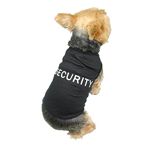 Insten® Black Pet Dog Puppy Security Cotton T-Shirt Tank Top Tee Clothes Apparel - Medium