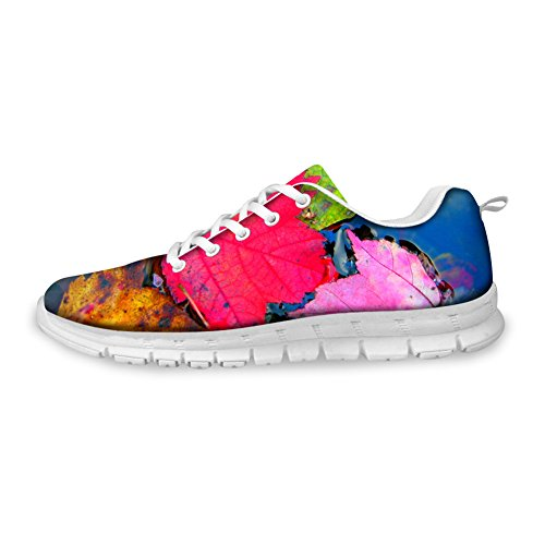Shoes 3 Running U Vintage amp; Leaves Mesh Lightweight Women's DESIGNS Colorful FOR Walking Men's 4apx1xq