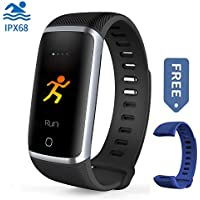 Waterproof Fitness Tracker, Bluetooth Activity Tracker...
