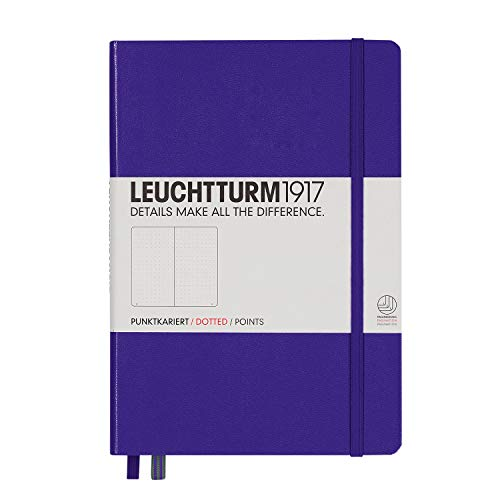 Leuchtturm1917 Medium A5 Dotted Hardcover Notebook [Purple] - 249 Numbered Pages
