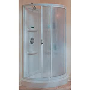 american shower and bath shower kit corner 72 quot h white