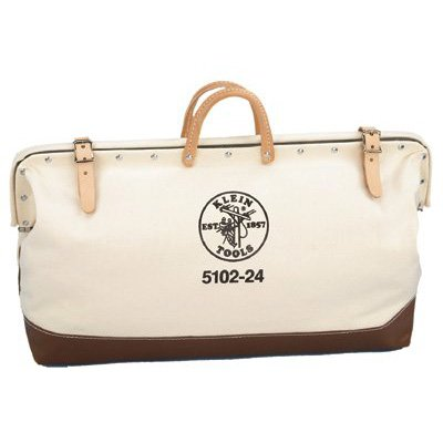 Klein Tools 5102-24 Canvas Tool Bag, 24-Inch,White/Tan (Tool Bags Canvas compare prices)