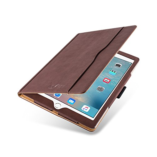 iPad Pro 12.9 Case - The Original Brown & Tan Leather Smart Cover for iPad Pro 12.9