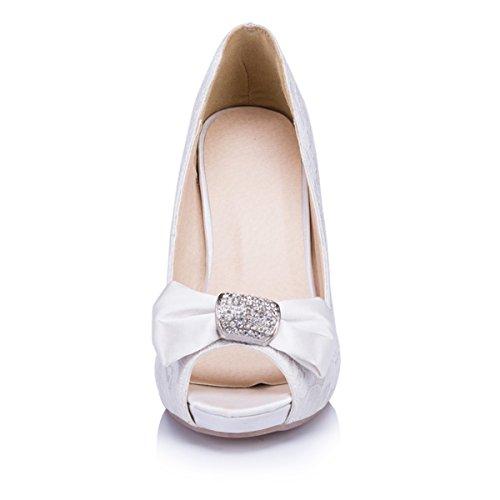 Kevin Fashion - Zapatos de boda a la moda Mujer Blanco - blanco