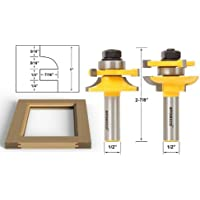 Yonico 12238 Rail and Stile Router Bits with Matched 2 Bit Quarter-round 1/2-Inch Shank by Yonico