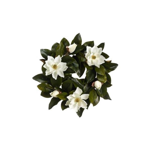 22″ Magnolia Wreath Cream (Pack of 2)