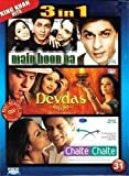 Main Hoon Na / Devdas / Chalte Chalte (3 in 1 DVD Without Subtittle) by Shah Rukh Khan