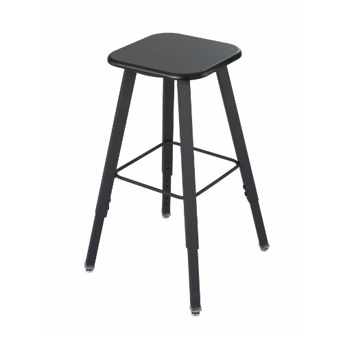 Safco Products 1205BL Alphabetter Stool for Alphabetter Stand-Up Desk (sold separately), Black Frame/Black Seat by Safco Products