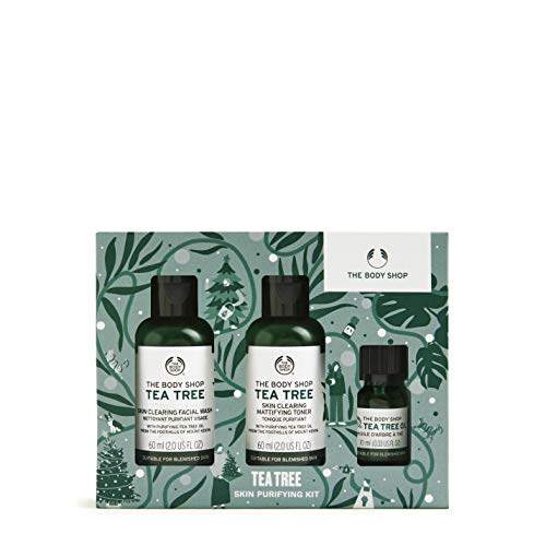 The Body Shop Tea Tree- 3pc Skin Purifying Gift Set, With Tea Tree Oil From Kenya
