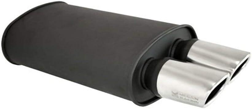 Megan Racing Universal Stainless Steel Exhaust Muffler oval tip MR-MU-OST