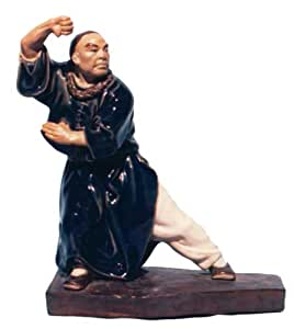 shaolin kung fu master shiwan ceramic statue home kitchen. Black Bedroom Furniture Sets. Home Design Ideas