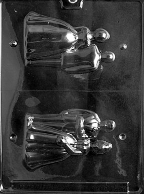 Cybrtrayd W018 Small 3D Bride/Groom Wedding Chocolate Candy Mold
